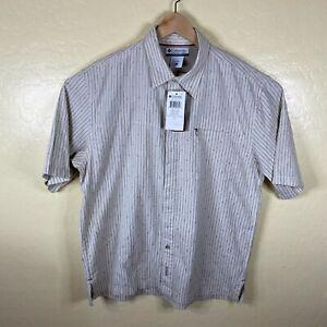 Columbia Button Up Shirt Mens XL Euro Roland Pass Camp Shirt Short Sleeve New