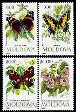 1993 Butterflies,Papilio machaon,Vanessa,Atalanta,Saturnia,Moldova,Mi.77,MNH