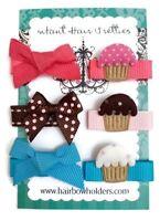 """Handmade 3"""" Ocean Blue\Pink Cupcake Korker Hair Bows"""