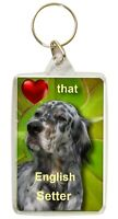 English Setter Keyring  Dog Key Ring Setter Dog Gift Xmas Gift Stocking Filler