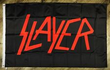 Slayer Flag 3x5 ft Black Banner Rock Heavy Metal Band Wall Garage Man-Cave