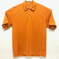 Nike Golf FitDry Mens Polo Shirt Medium Active Athletic Button Golfing Orange