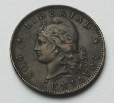1892 ARGENTINA Coin - 2 Centavos - with multiple obverse die cracks