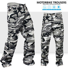 New Motorbike Motorcycle Urban Camo Cargo Trousers Jeans With Protective Lining