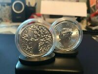 "1OZ FINE SILVER ""TREE of LIFE""BEAUTIFULL COIN trending for $38.99,w/cap & stand"