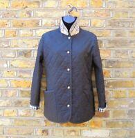 Burberry London Women's Black Quilted Nova Check Jacket Size UK 6-8 XS