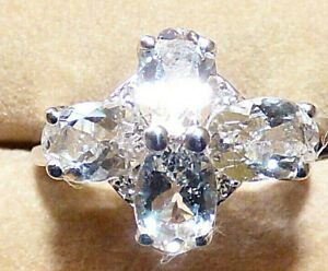 Ice Morganite Cluster Ring