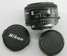 Nikon AF Nikkor 50mm F/1.8 Film SLR Camera Lens - Mechanical AF CLEAN USED D41C