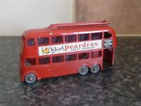VINTAGE LESNEY MATCHBOX 1-75 SERIES No.56a LONDON TROLLEY BUS PEARDRAX/OXO VGC