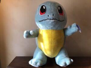 "Vintage 1999 Pokemon ""Squirtle"" Plush  Jumbo Toy by Nintendo 66cm Tall"