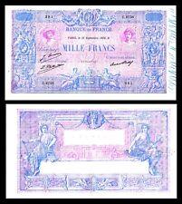 France 1000 Francs 1889-  1926 P-67 VF++  '' Bleu et Rose ''