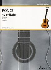 PONCE PRELUDES (12) 1-12 Guitar