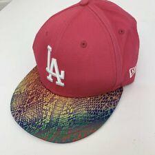 Vintage NEW ERA LA Dodgers Pink Pattern Baseball Snapback Womens Cap