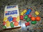 Vintage Sandberg BIG Wood Math Counting Beads Toy School Supplies Educational