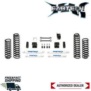 "Fabtech 3"" Sport Lift Kit W/ Performance Shocks 2007-2018 Jeep Wrangler JK 4DR"