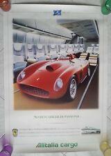 50 anni anniversary 1947-1997 ALITALIA CARGO genuine poster FERRARI 410s