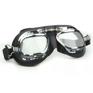 Halcyon Mark 410 Black Leather Classic Goggles - For Motorcar Racing Enthusiasts