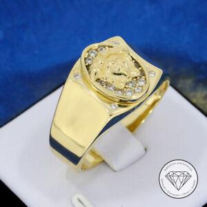 SONDERAKTION WERT 1.120,- Medusa Siegel Ring 585 / 14 Karat Gold XXYY