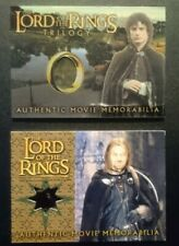 The Lord Of The Rings 2 costume memorabilia relic cards Frodo + Boromir