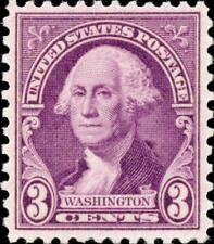 1932 3c George Washington, Gilbert Stuart, Light Purple Scott 720 Mint F/VF NH
