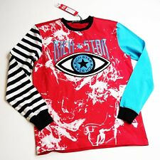Rich Star 100%authentic mens LS tshirt Size large red multicolor eye star logo