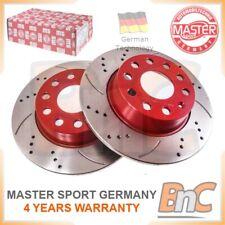 # GENUINE MASTER-SPORT GERMANY HD 2x REAR BRAKE DISC SET VW AUDI SKODA SEAT
