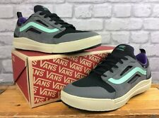 VANS MENS UK 12 EU 47 ULTRARANGE 3D SUEDE GREY BLACK GREEN PURPLE TRAINERS  LD