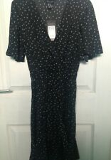 BNWT New Look Black Polkadot Dress (Size 6)