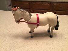 """Antique Schoenhut Circus Horse Intact Nice 5.5"""" Tall Painted Eyes Leather Ears"""