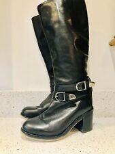 Chunky Boots  Uk 4 By Topshop Motorbike Platform 90s boho Knee High