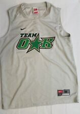 Nike Fit Dry Womens Softball Jersey Team Oak Size Medium Silver Sleeveless #37
