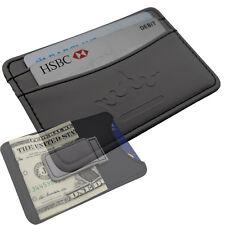 Hommes Porte-feuille Pince À Billets -affaires Porte-cartes -noir Faux Cuir-