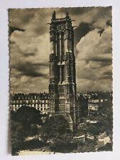 Paris France Vintage B&W Postcard 1939 La Tour Saint-Jacques