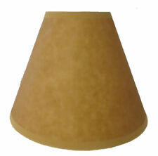 Paper rusticprimitive lamp shades ebay 9 faux oiled kraft paper lamp shade standard clip okl 09nl mozeypictures Images