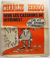 CHARLIE Hebdo 22 04 1976 N°284 REISER Wolinski Cabu VIVE LES CASSEURS VITRINES