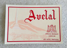 Vintage Old Rare ✱ HOTEL AVELAL / BUSSACO ✱ Hotel luggage label Kofferaufkleber