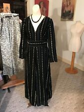 1be16cc0445e Vtg.70 s Disco Super Wide Legged Evening Jumpsuit Outfit Black Gold Velvet