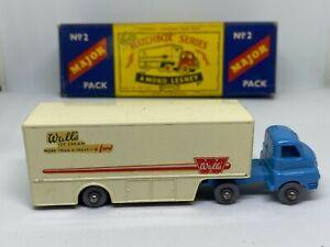 Lesney Matchbox Major Pack m2b Bedford Walls ice cream truck - Vintage