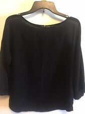 Ann Taylor Women's  Black Sheer Blouse Top S