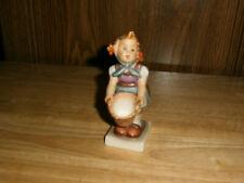 """Vintage Goebel Hummel """"Little Helper"""" Girl Basket Porcelain Collectible Figurine"""