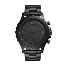 Fossil Q Herren Hybrid Smartwatch FTW1115 Edelstahl Analog Schwarz 50 mm