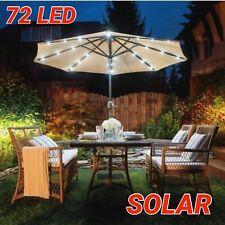 72 Led Solar Parasol Light Garden Patio Table Umbrella Fairy Light Outdoor
