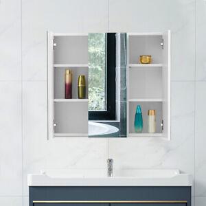 New Wall Mounted 3 Mirror Door Cabinet Storage Shelves Bathroom Cupboard Modern