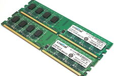 4GB (2x 2GB) PC2-5300 / DDR2-667 non-ECC DESKTOP MEMORY RAM
