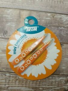 Trim Mini Tweezers 2 Pair Slant & Point Tips Sunflower