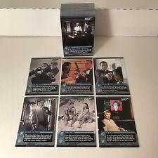 JAMES BOND 007 MISSION LOGS (2011) Complete Trading Card Set UNPUBLISHED PHOTOS