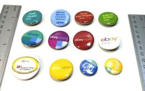 Ebay Open Med Set 2 Lot of 12 Sell On Sellers Pinbacks  Giveaways Collection