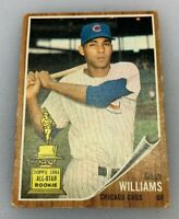 1962 Topps # 288 Billy Williams Baseball Card Chicago Cubs HOF