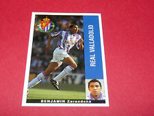 BENJAMIN ZARANDONA REAL VALLADOLID PANINI LIGA 95-96 ESPANA 1995-1996 FOOTBALL