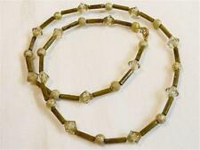 HM0519...Handmade - Olive Green Beaded Necklace - FREE UK P&P